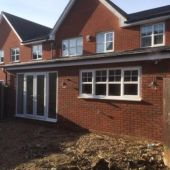 uPVC windows installation on extension