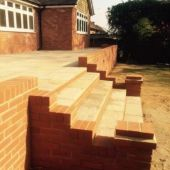 Brick step paving